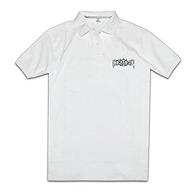 Prong Band Tops & T-Shirts Polo Shirts White Man