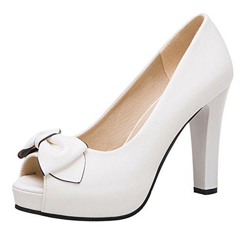 Femmes JOJONUNU Peep Mode Escarpins Toe White 64 HwqAB4w