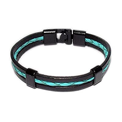 AUTHENTIC HANDMADE Leather Bracelet, Men Women Wristbands Braided Bangle Craft Multi [SKU003066]