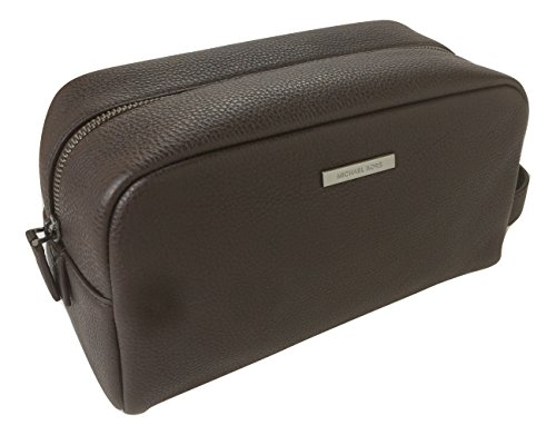 Michael Kors Stephen Leather Toiletry Holder Travel Case (Brown)