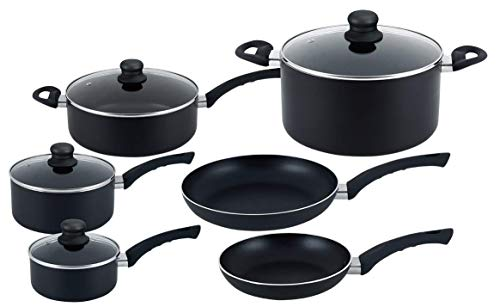 Hell's Kitchen 10 Piece Ultimate Cookware Set - Pots and Pans - 10 Piece Cookware Set - Nonstick Cookware Set