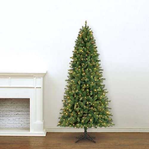 7.5' Member's Mark Artificial Pre-Lit LED Color-Changing Virginia Pine Quick Set Simple Shape Quick Fold Christmas Tree