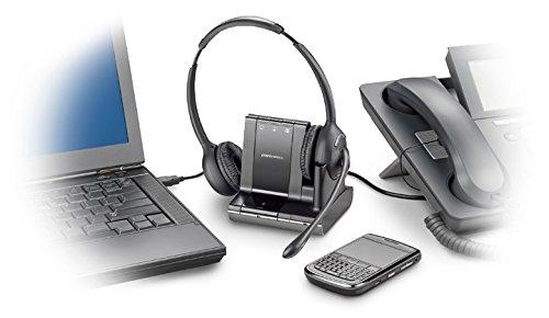 Over-the-Head Binaural Headset Plantronics W720 Savi 3-in-1 Dect 6.0-83544-01