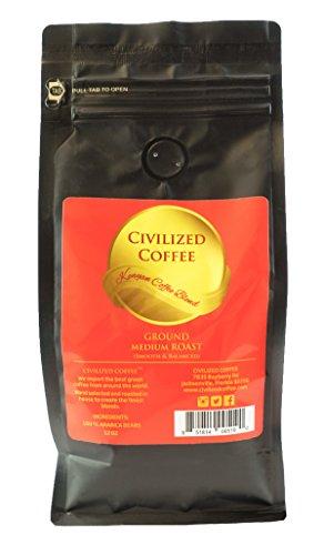 CIVILIZED COFFEE- African Kenyan Blend, Medium Roast, Ground Coffee, Arabica Beans