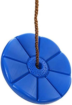 ブランコ 子供の花のディスクはブルーSwingの直径28センチメートルの最大スイング容量は120KGでスイング ジャングルジム・ブランコ (色 : 青, Size : 28x191cm)