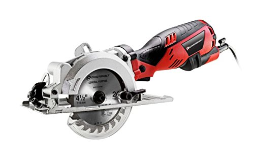 Powerbuilt 4.5 Inches Compact Circular Saw with 5.8 Amp Motor by Powerbuilt