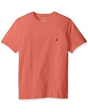 Men's Short Sleeve Solid Crew Neck T-Shirt