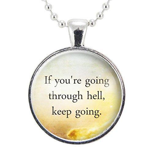 Amazon.com: Motivational Quote Necklace, Inspirational ...