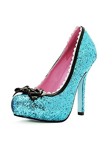 Ja Musta Rajaus Patentin Jalka Prinsessa Koko Glitter Keula Pumppu Avenue 5 Kampasimpukka OPf0q