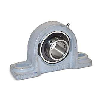 "Boston Gear MB2 Ball Bearing Pillow Block, Medium Duty, 2 Bolt Holes, 2.000"" Bore Diameter, Setscrew Locking Collar, Cast Iron, Inch"