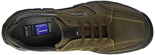FRETZ men Shark, Zapatos de Cordones Derby para Hombre Caqui