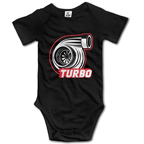 CDHL99 Turbo Tuning Boost Newborn Girls & Boys Short Sleeve Layette Bodysuit 0-24M Black