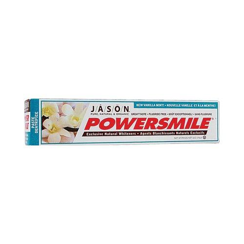 2 Packs of Jason Powersmile Toothpaste Vanilla Mint - 6 Oz (Super Mouthwash Refreshing)