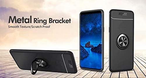 Negro Funda Protectora de TPU de Silicona Suave Ultrafina Azihone Compatible Samsung Galaxy A40 Funda,Antigolpes//Anti-ara/ñazos,con 360 Grado Girar Dedo Anillo Hebilla,