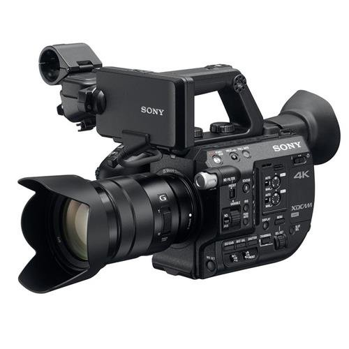 Sony PXW-FS5 4K XDCAM Camera System with Super 35 CMOS Sensor with 18-105mm E-Mount Zoom f/4 G OSS Lens by Sony