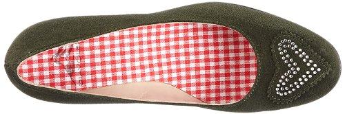 Diavolezza LEA 6052 - Zapatos de vestir de ante para mujer Verde