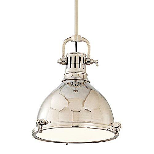 - Pelham 1-Light Pendant - Polished Nickel Finish with Polished Nickel Brass Shade