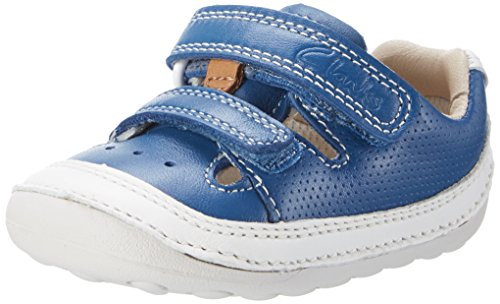 Clarks Tiny Boy, Mocasines para Bebés Azul (Blue Leather)