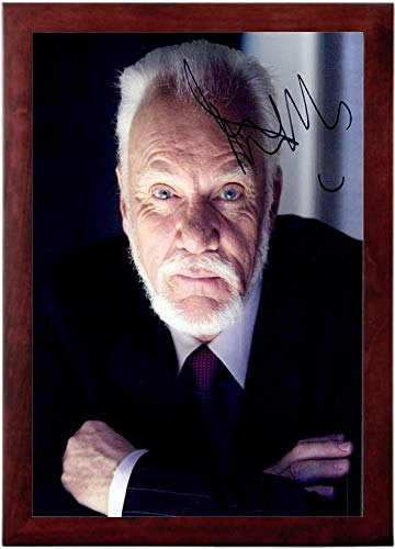 Mcdowell Autograph - Malcolm McDowell Autograph Replica Super Print - Portrait - Framed