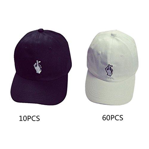 Caps, Toraway 70PCS Unisex Fashion Baseball Cap Adjustable Hip Hop Finger Hat by Toraway