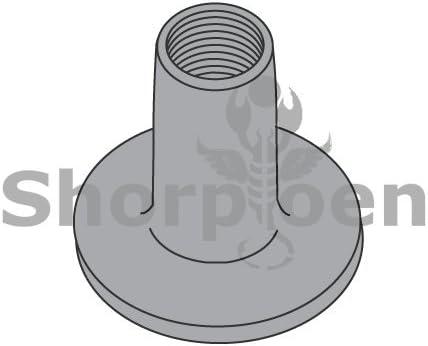 1//4-20X7//16 Weld Nut with .750 Round Base Plain Box Quantity 1000 by Korpek.com BC-1407NWR