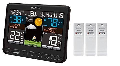 La Crosse Technology WS6825 Wetterstation, Schwarz