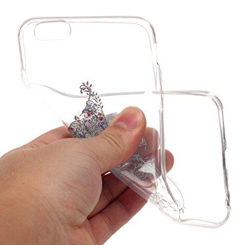 """LH Schmetterling TPU Hülle Weich Tasche Schutzhülle Silikon Handyhülle transparent Schale Case für Apple iPhone 6 / 6S 4.7"""""""