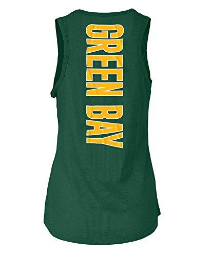 5th & Ocean Green Bay Packers Women's Mesh Back Tank Top-Shirt X-Large