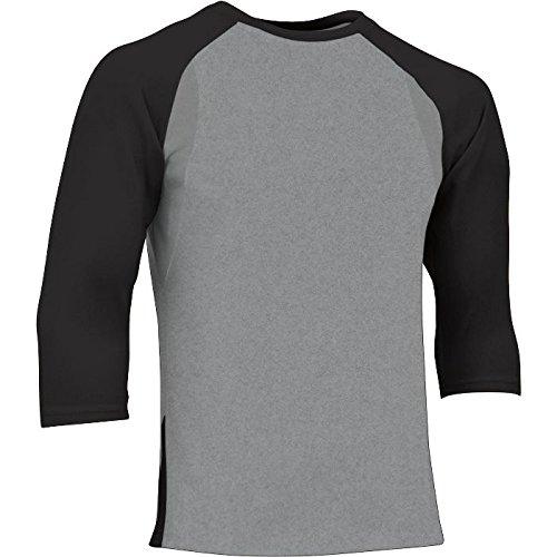 Champro大人用Extra Innings 3 / 4スリーブベースボールシャツ B00H4ER5XU 3L|グレー/ブラック グレー/ブラック 3L