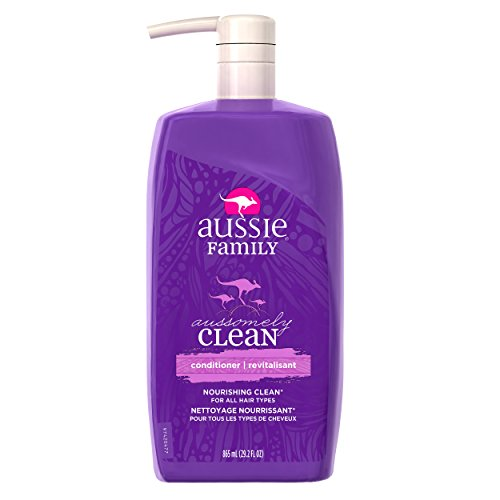 Aussie Aussomely Clean Family Conditioner with Pump, 29.2 oz