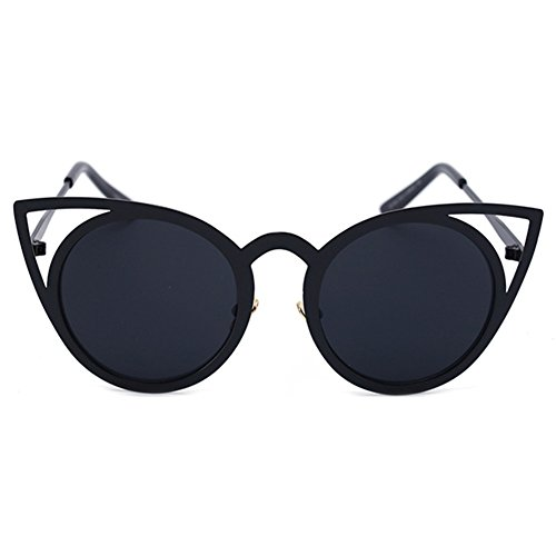 Metal Frames 2 Eye Sunglasses Femme Cat Color Mirror MEIHAOWEI Shades Vintage qXPagwT