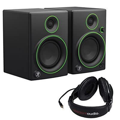 "Mackie CR4- 4"" Woofer Creative Reference Multimedia Monitors (Pair) with Stereo Headphones from Kellards"