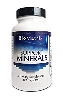 Support Minerals (120 Capsules) - Macro and Trace Minerals Supplement with Calcium, Magnesium