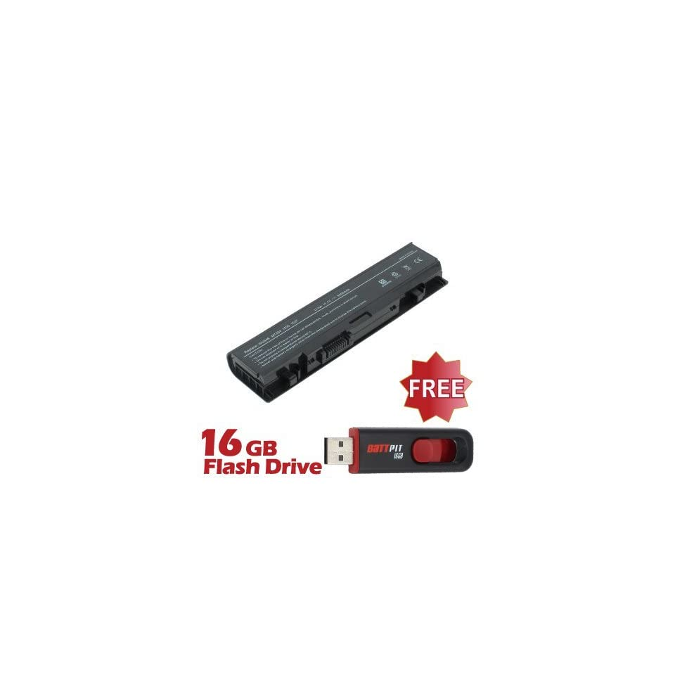 Battpit™ Laptop / Notebook Battery Replacement for Dell Studio 1558 (4400mAh / 49Wh) with FREE 16GB Battpit™ USB Flash Drive