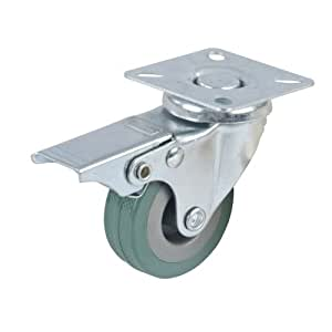 FIXMAN 413608 - Rueda giratoria de goma con freno (50 mm, 50 kg)