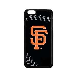 Fashion Popular Black Orange San Francisco Giants Baseball Team Sport Iphone 6 4.7 Case Shell Cover (Laser Technology)
