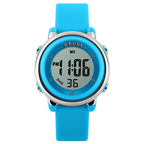 Kid watch multi function 50m waterproof sport led alarm stopwatch digital child wristwatch for for Watches for kids