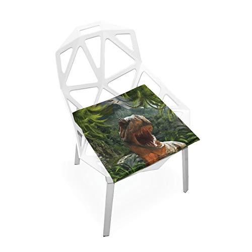 Seat Cushion Park Dinosaur Jungle Chair Cushion Offices Butt Chair Pads Square Wheelchairs Mat for Computer