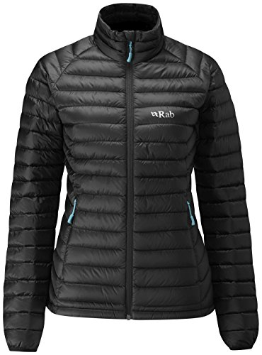 Rab Microlight Jacket - Women's Black/Seaglass Large by RAB