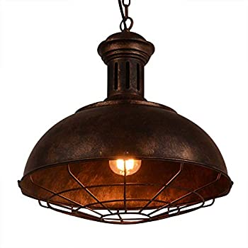 Neo-Industrial Nautical Barn Cage Pendant Light - LITFAD