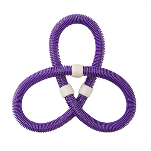 Hula Hoop-Fitness Spring Hula Hoop Soft Elastic Abdomen Increases Beauty Waist Thin Waist Weight Loss Circle (Color : Purple)