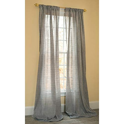 (Manor Luxe Essex Sheer Rod Pocket Window Curtain, Single Panel, 52 x 96)