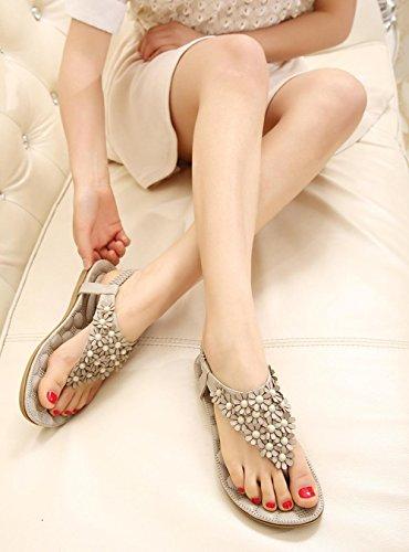 Zapatos Verano Gris Sandalias Chanclas De Yardas Grandes Playa 84wtZ