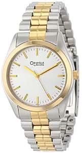 Caravelle by Bulova Caballero 45A08 Stainless Steel Bracelet Silver Dial Reloj