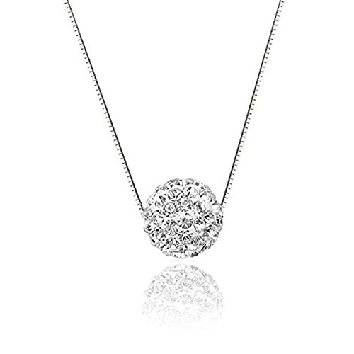 CAT EYE JEWELS Sterling Silver Diamond Pendant Necklace S925 Crystal Heart Round Cubic Zirconia Jewelry 16+2inch -