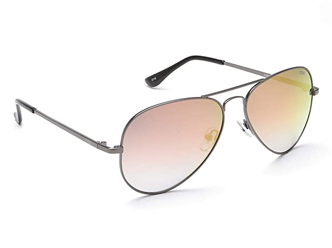 917bde37b1f Image Unavailable. Image not available for. Colour  IDEE Mirrored Aviator  Unisex Sunglasses - (IDS2500C43SG