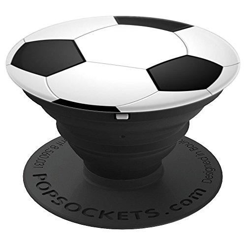Soccer Ball Futbol Football Sports Men Women Kids Gift - PopSockets Grip and Stand for Phones and Tablets