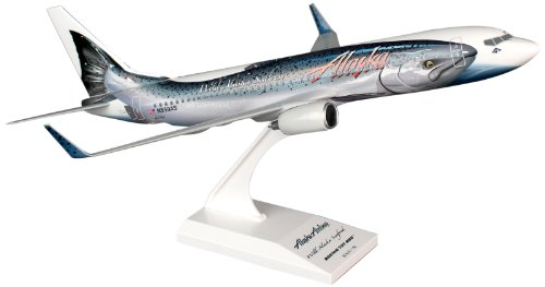 Daron Skymarks Alaska 737-800 Salmon Thirty Airplane Model Building Kit, 1/130-Scale (Alaska Airlines Model compare prices)