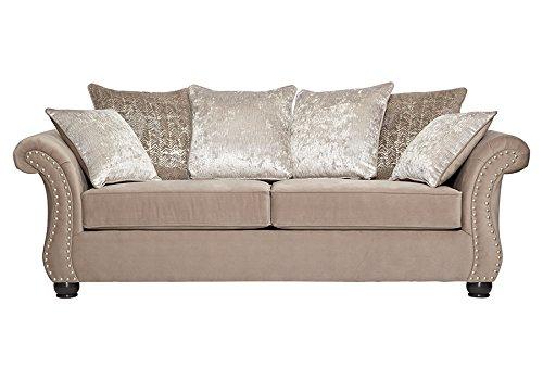 Roundhill Furniture LHU7503 Larvik Contemporary Microfiber Nailhead Trim, Sofa (Sofas With Nailhead Trim Microfiber)