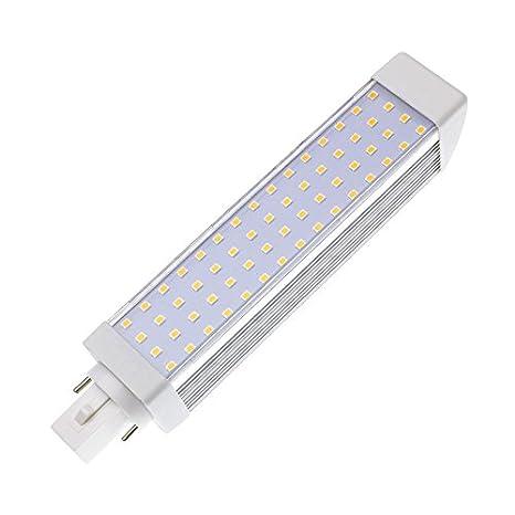 Bombilla LED G24 12W Blanco Cálido 2800K-3200K efectoLED: Amazon.es: Iluminación